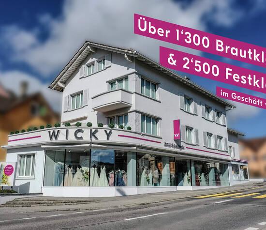 WICKY Braut- & Festmode in Beromünster. Die grösste Auswahl der Zentralschweiz.