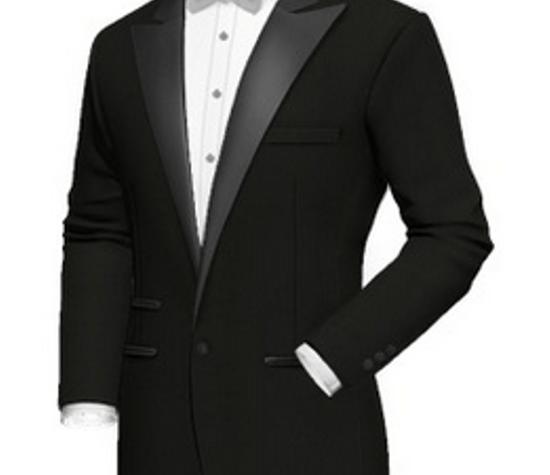Beispiel: Hochzeitsanzug schwarz, Foto: Poshodorosuits.