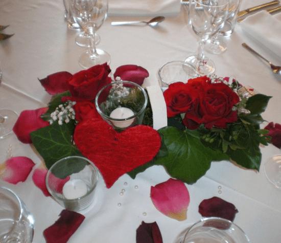 Beispiel: Wunderschöner Tischschmuck, Foto: Traumwerk.