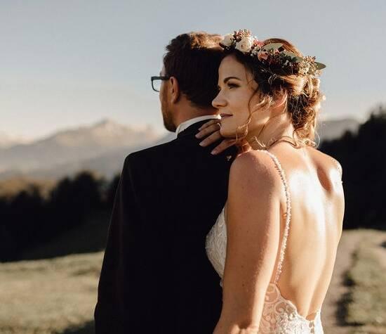 Kundin 2019, Braut Riana, Hochzeit im Bündnerland Foto: Jrene Studer