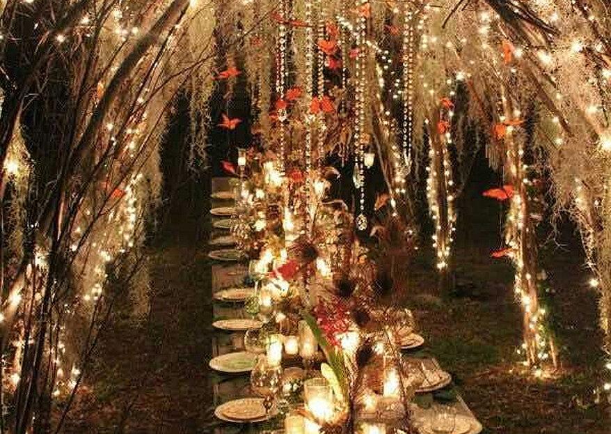 Lichterketten,Kerzen oder Lampions! 8 schöne Licht Dekorationen für Ihre Hochzeit