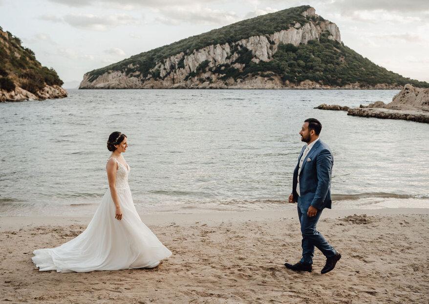 Die sonnige Strandhochzeit von Angela & Pantaleone auf Sardinien!