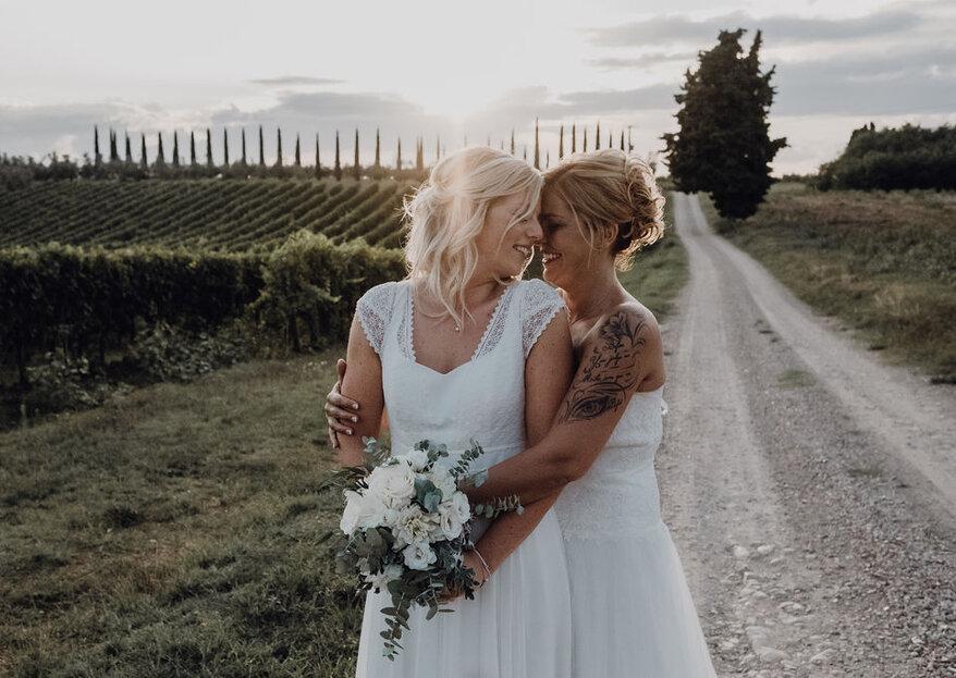 Die überwältigende Vintage-Hochzeit von Sabina und Nadine in der Toskana