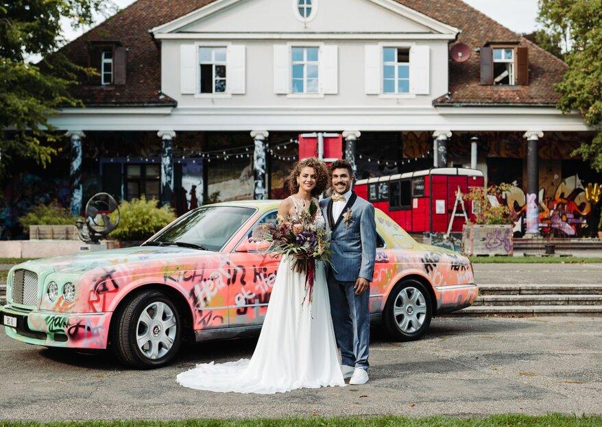 Historischer Ballsaal und Graffiti-Limousine - 300-jährige Geschichte trifft im Grand Hotel Les Trois Rois auf lebendige Gegenwart