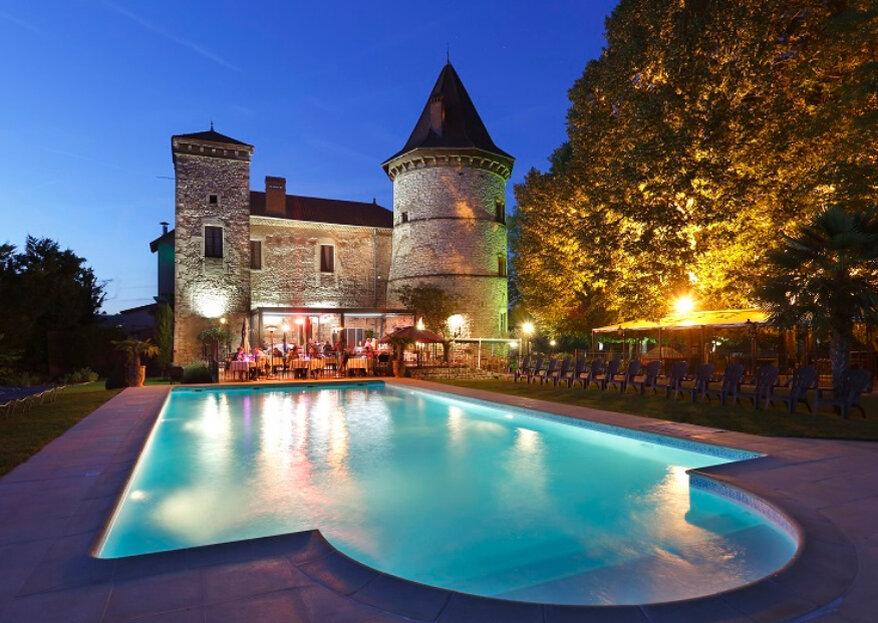 Feiern Sie Ihre Hochzeit in dem bezaubernden Château de Chapeau Cornu in Frankreich
