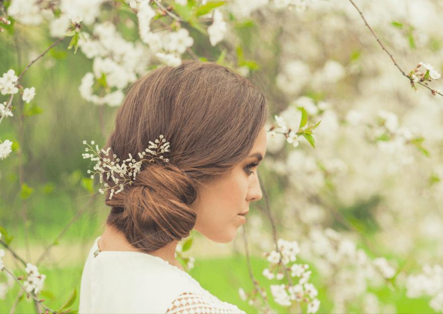 Die schönsten Frisuren mit Schleierkraut für die Hochzeit