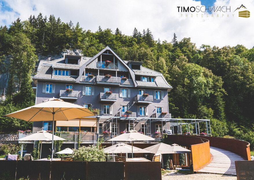 Idyllisch heiraten mit Blick auf die Berge im Hotel Wetterhorn