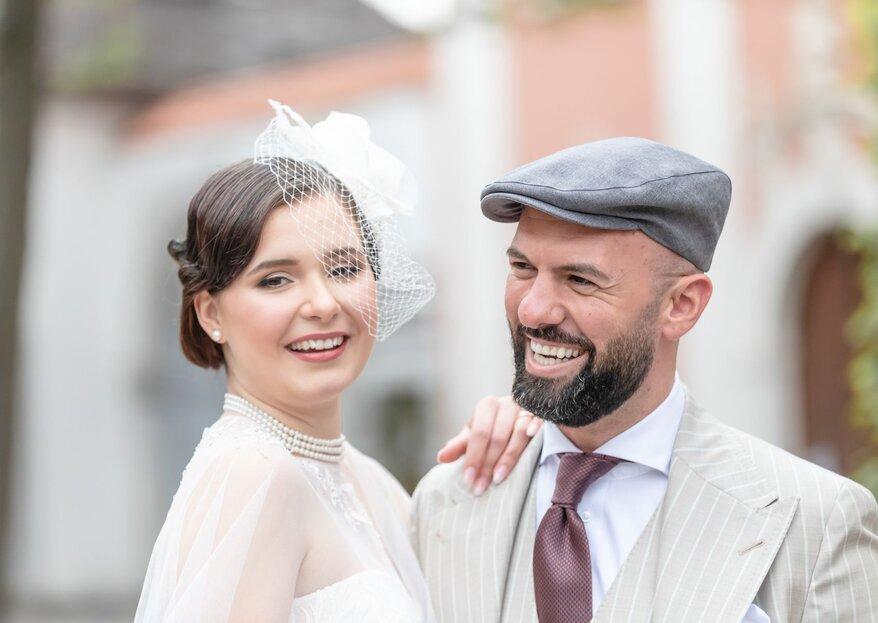 Hochzeit im Stil der goldenen 20 Jahre – zwischen Pastell, Weiss & Gold