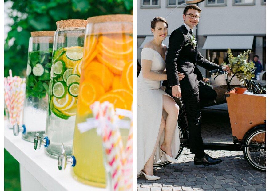 Der Hochzeitsempfang. Alles über Ablauf, Snacks und Unterhaltung beim Hochzeitsapero