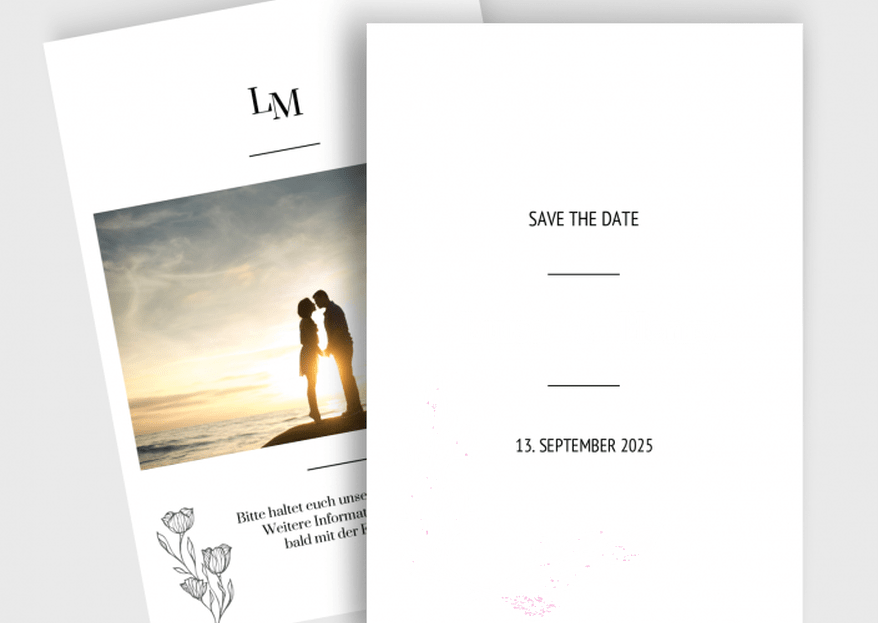 Hochzeit frühzeitig ankündigen - Wann Save the Date Karten verschicken?