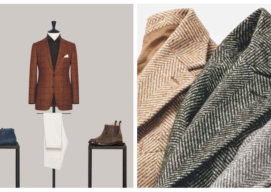 Hochzeitslooks für die kälteren Tage – Alferano zeigt Anzüge und Mäntel für Herbst & Winter