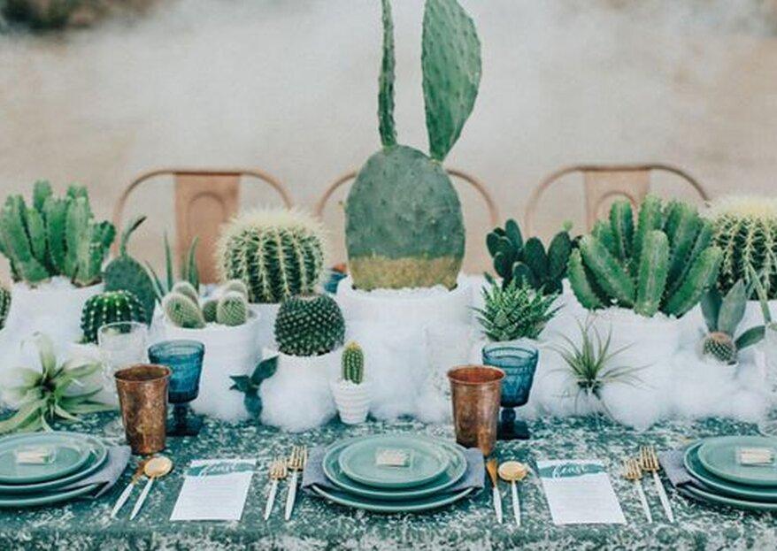 Hochzeitstrend-Alarm: Dekoriert eure Hochzeit mit Kakteenen!