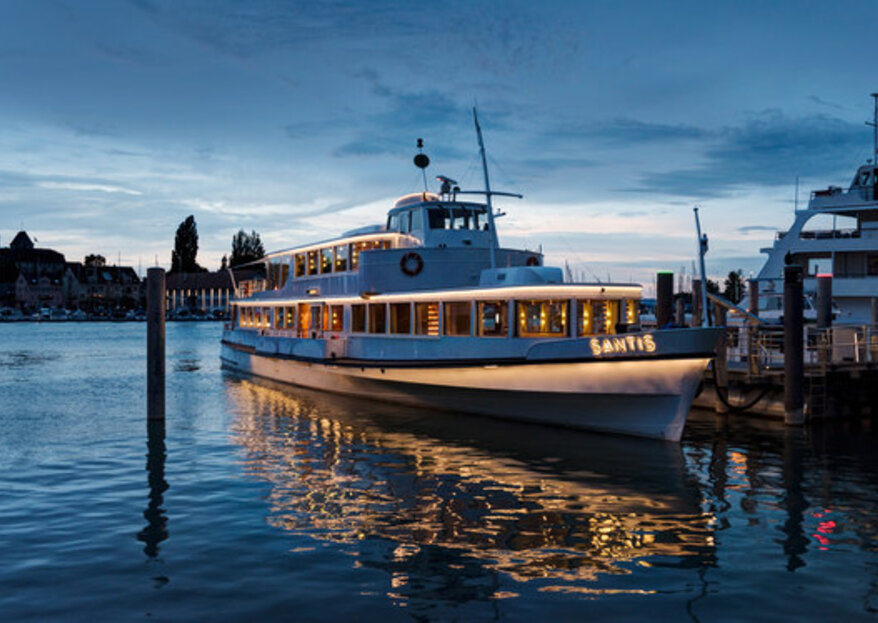 Seien Sie bei der ersten Thurgauer Hochzeits– & Eventmesse auf dem Schiff MS Säntis dabei!