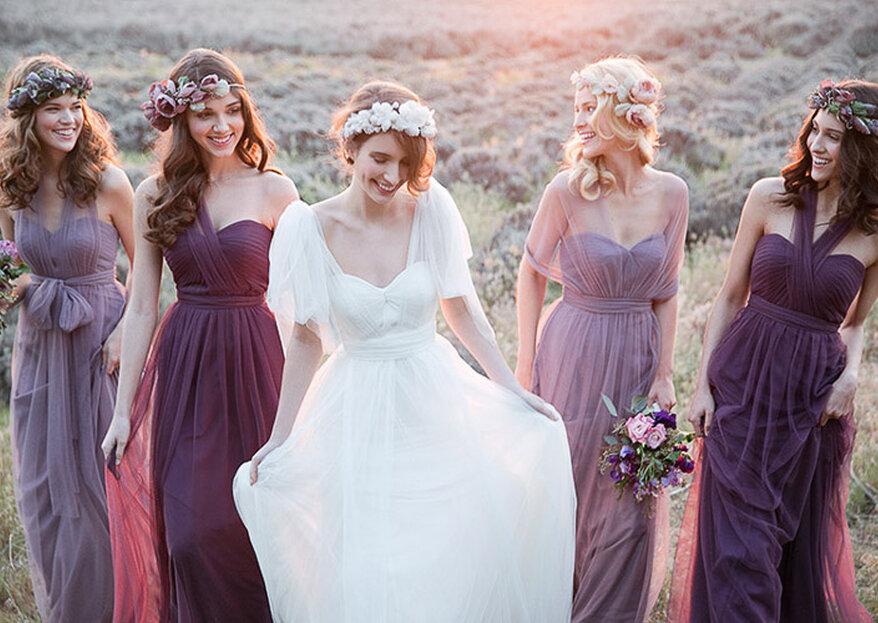 Wie Sie Ihre Hochzeit in der Farbe Lila dekorieren! Stilvolle Lieblichkeit