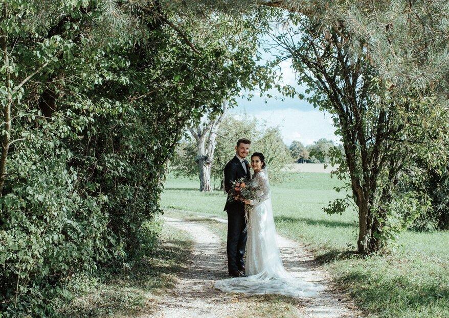 Klassische Hochzeit mit Blütenzauber: Aline & Yves heirateten in Binningen