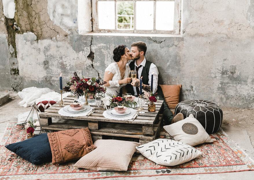 Hipster-Hochzeit mit Boho-Touch – Hier gibt's tolle Inspirationen für Ihr Traumfest