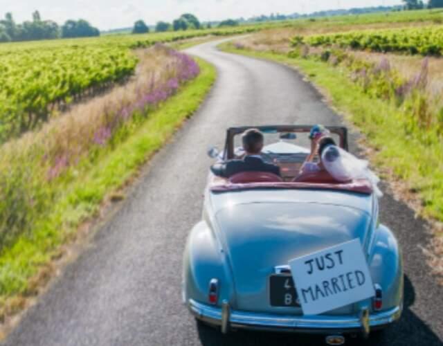 Transport für die Hochzeit in Jura