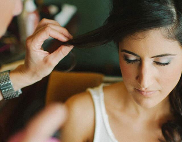 Brautfrisur und Braut Make-up in Graubünden